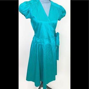 Calypso Christiane Gelle Dress Silk Green Wrap